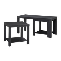 Holly Bay Coffee Table And End Table Set Black