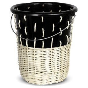 Bow Wastepaper Bin No.1, Bold Black