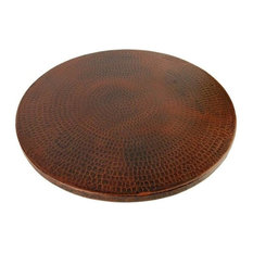 """18"""" Hand Hammered Copper Lazy Susan"""
