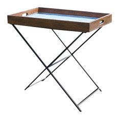 Folding Iron and Wood Tray Table