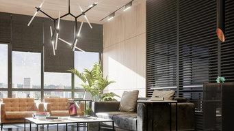Офис в современном стиле для строительной компании