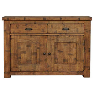 2 Door and 2 Drawer Heyford Rough Sawn Oak Sideboard