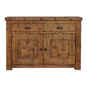 2 Door and 2 Drawer Heyford Rough Sawn Oak Sideboard