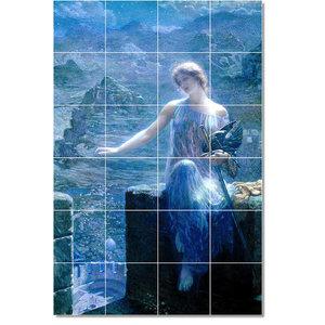 Tile Mural Miranda By John William Waterhouse 6 X8 Traditional Tile Murals By Flekmanart