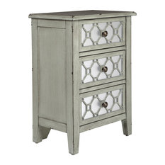 Storage Cabinet With 3 Drawers Antique Ash Gray