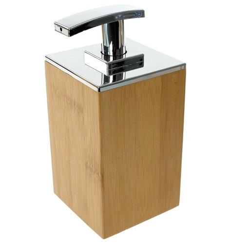 Square Wood Soap Dispenser Bathroom Accessories