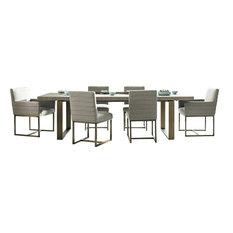Universal Modern 7-Piece Robards Rectangular Dining Set, Gray
