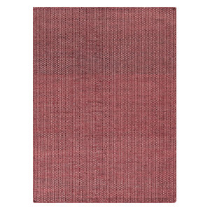 Mic-Mac Rug, Red and White Zigzag, 200x140 cm