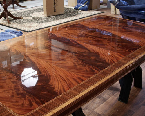 Long High End American Made Mahogany Dining Room Table LH 1