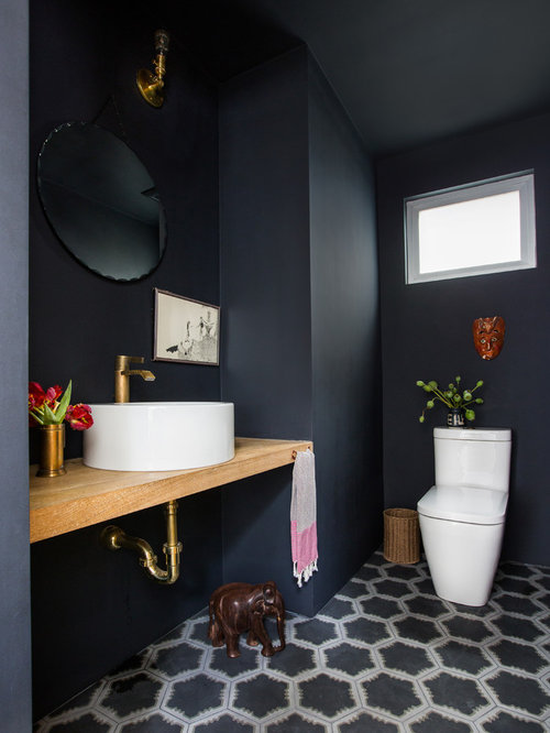 moderne g stetoilette g ste wc mit zementfliesen ideen. Black Bedroom Furniture Sets. Home Design Ideas