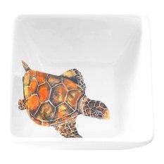 12oz Square Bowl, Free Style Turtle