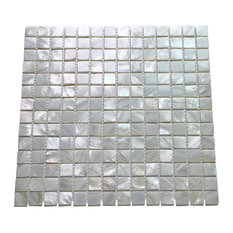 Oyster Mother of Pearl Square Shell Mosaic Tiles,, Set of 10