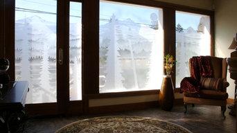Custom Design Etched Glass Windows