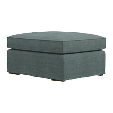 MOD - Ambre Gray Ottoman - Footstools and Ottomans
