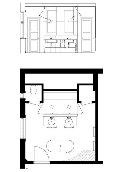 Moderne Badezimmer Grundrisse. Best Badezimmer Grundriss Schmal