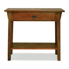 Leick Home   Leick Furniture Favorite Finds Russet Mission Hall Stand   Console  Tables