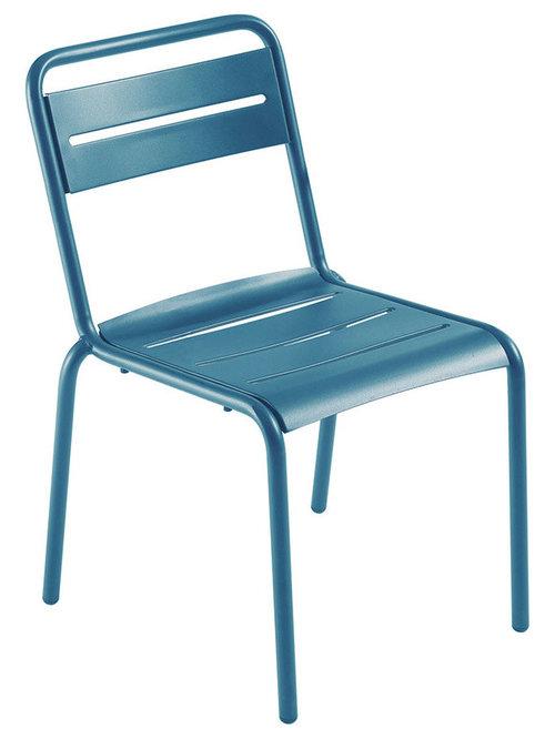 Star Stol, Blå - Udendørs spisebordsstole