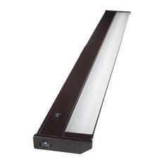 """120V Dimmable LED Under Cabinet Metal Light Bar, AQUC, Bronze, 32"""""""