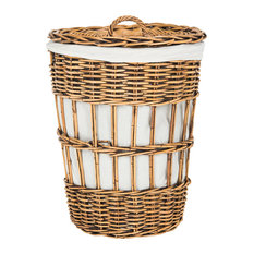 Safavieh Maggy Storage Hamper With Liner, Honey