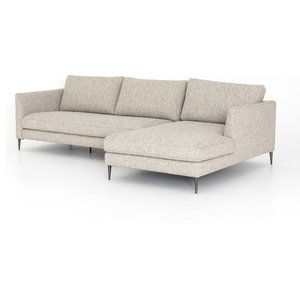 Super 111 L Coralie Pc Sectional Sofa W Raf Chaise Iron Gris Dailytribune Chair Design For Home Dailytribuneorg