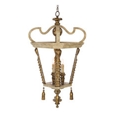 Bastien French Country Gold Leaf Rustic Wood Lantern - Pendant Lighting  sc 1 st  Houzz & French Country Pendant Lights | Houzz