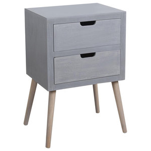 Grey Midcentury Bedside Table