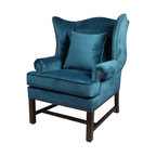 Chantel Chairs Pair Transitional Armchairs And