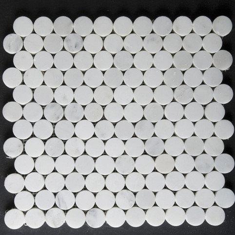 Calacatta Mini-Round Mosaic - Tile
