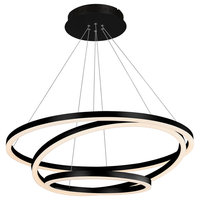 Tania Trio Circular LED Chandelier, Black