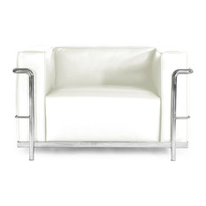 - Roche Chair, Cream White, Material: Aniline Leather - Armchairs and Accent Chairs