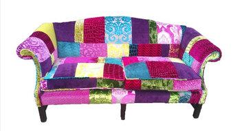 Patchwork Sofa Designers guild Fabric