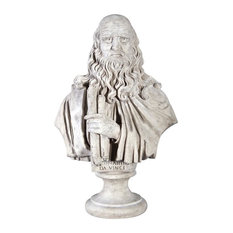 Leonardo da Vinci Grand-Scale Sculptural Bust
