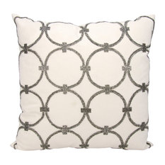 "Mina Victory Luminescence Circles Pillow, Pewter 20""x20"""