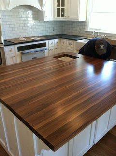 Butcher Block Color With Gray Floors