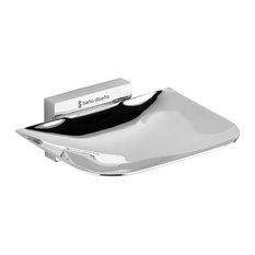 Aquamoon Bano Diseno Gravity Chrome Wall Soap Dish