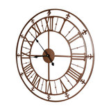 Copper Skeleton Wall Clock