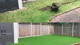 Artificial grass install in hillfield