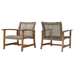 Lovely Tropical Outdoor Lounge Chairs by GDFStudio