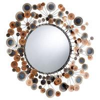 Lucca Mirror, Raw Steel Finish