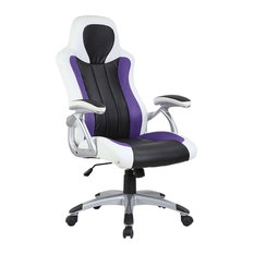 Purple, White and Black Racing Office Chair