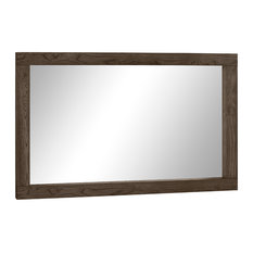 "MOD - Tyler Horizontal Dark Oak Wall Mirror, 35""x57"" - Wall Mirrors"