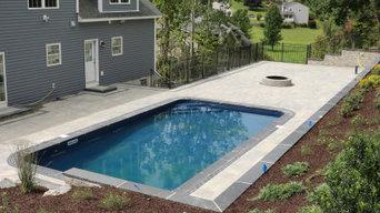Backyard Retreat: A Raw Land Transformation: Pool Patio, retaining walls, steps