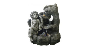 """24"""" Angel Garden Fountain with LED Lights"""
