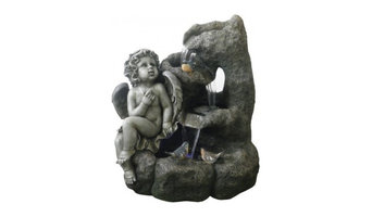 "24"" Angel Garden Fountain with LED Lights"