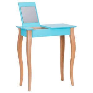 Lilo Small Scandinavian Dressing Table, Dark Turquoise