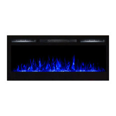 """35"""" Crystal Ventless Heater Recessed Wall Mounted Electric Fireplace"""