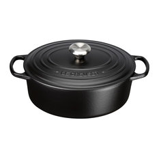 Le Creuset Signature Cast Iron Oval Casserole, 25 cm, Satin Black
