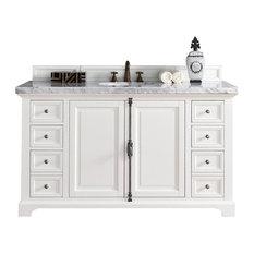 """Providence 60"""" Cottage White Single Vanity"""