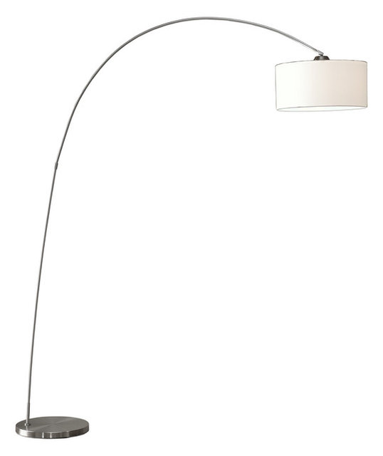 Adelina Arched Floor Lamp Brushed Steel Contemporary
