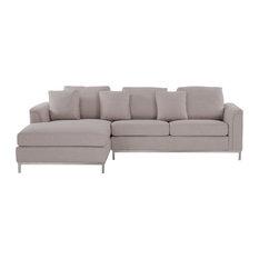 Oslo Fabric Corner 4-Seater Beige Sofa